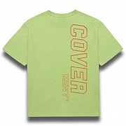[COVERMENT]Side Vertical Big Logo Print Over-Fit T-Shirts_Neon Green(Orange)