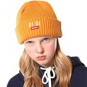 LOGO POINT BEANIE_mustard