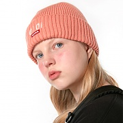 LOGO POINT BEANIE_pink