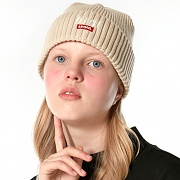 LOGO POINT BEANIE_beige
