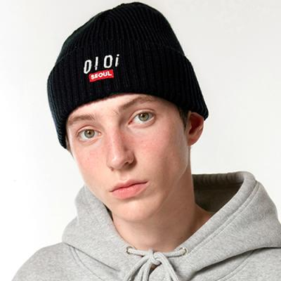 LOGO POINT BEANIE_black