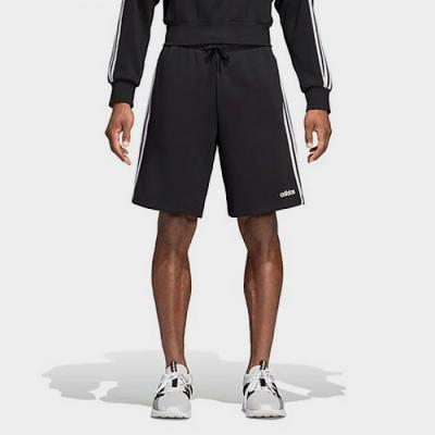 (DQ3071) ESSENTIALS 3-STRIPES FLEECE SHORTS-BLACK