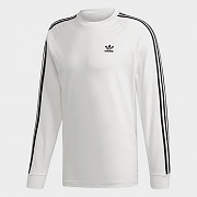 (ED5959) 3-STRIPES LS TEE-WHITE