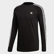 (DV1560) 3-STRIPES LS TEE-BLACK