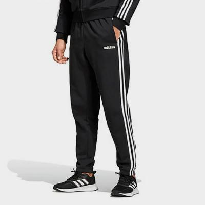 (DQ3093) ESSENTIALS 3-STRIPES TAPERED PANTS-BLACK