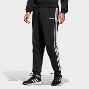 (DQ3095) ESSENTIALS 3-STRIPES TAPERED CUFFED PANTS-BLACK