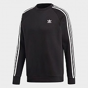 (DV1555) 3-STRIPES CREW-BLACK