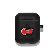 CHERRY AIRPODS CASE IA [BLACK]