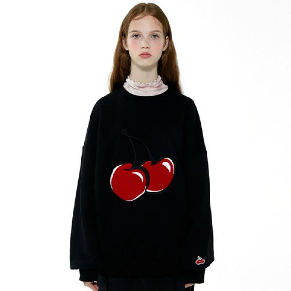 BIG CHERRY SWEATSHIRT IA [BLACK]