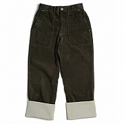 8's Corduroy Fisher-man rollup pants_KHAKI