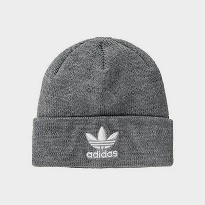 TREFOIL BEANIE-HEATHER GREY/BLACK