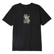 (163082095)OBEY WITH CAUTION TEE-BLK