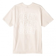 (163081822)OBEY JUMBLED  EYES TEE-NATURAL