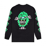 (164902087)OBEY CREECH LS TEE-BLK
