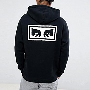 (111751826)OBEY EYES 3 ZIP HOOD-BLK