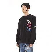CRAYON SWEAT TOP BLACK