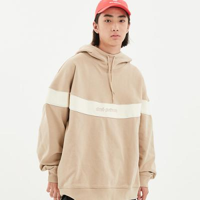 1920 CIRCLE COLOR BLOCK HOODIE BEIGE