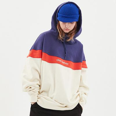 1920 CIRCLE COLOR BLOCK HOODIE IVORY