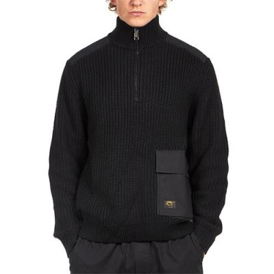 (I026961) WALKER HALF ZIP SWEATER-BLK