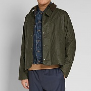 BARBOUR X ENGINEERED GARMENTS GRAHAM WAX JACKET-OLIVE