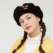 REVERSIBLE FLEECE BERET_black