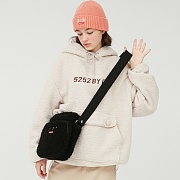 SHEARLING AIRLINE BAG_black