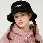 SHEARLING BUCKET HAT_black