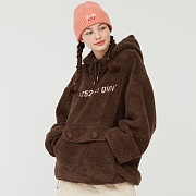 5252 POCKET FUR HOODIE_brown