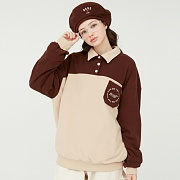 FLEECE COLLAR JUMPER_brown