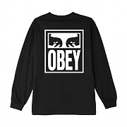 (164902142) OBEY EYES ICON 2 BASIC LONG SLEEVE TEE-BLK
