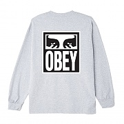 (164902142) OBEY EYES ICON 2 BASIC LONG SLEEVE TEE-HEA