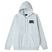 (112842137) OBEY WORLD DOMINATION BOX FIT PREMIUM HOOD FLEECE-HAS