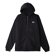 (111751826) OBEY EYES 3 BASIC ZIP HOOD FLEECE-BLK