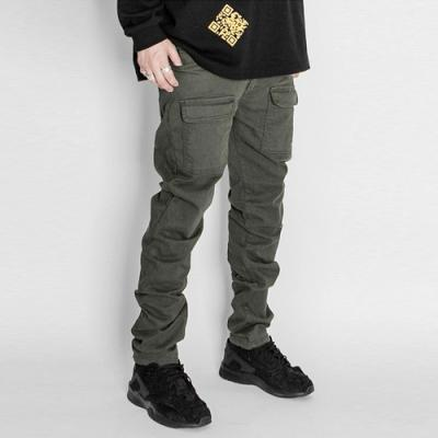 2019 Front Cargo Pants Military Green Slim Fit