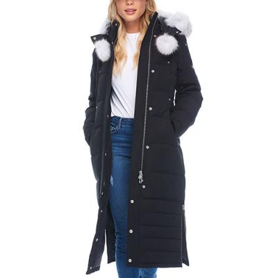 (MK4660LLP_290) 2019 서스캐처원 여자 롱패딩 LADIES SASKATCHEWAN PARKA-BLACK (wht fur)
