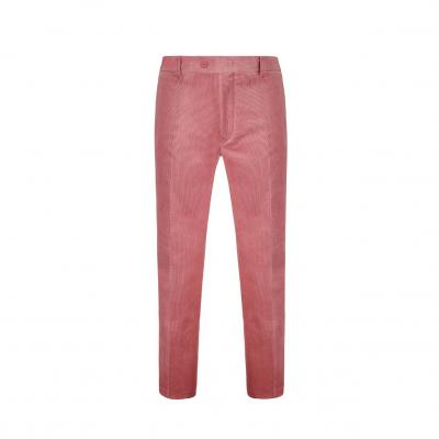 Corduroy Span Slim Fit Pants PINK