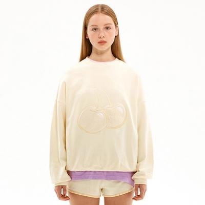 TONE ON TONE BIG CHERRY SWEATSHIRT JS [CREAM]