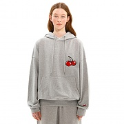 MIDDLE CHERRY HOODIE JS [MELANGE GRAY]