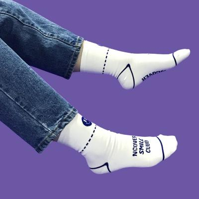Smile club socks-white