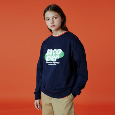 Ellipse tile logo long sleeve-navy
