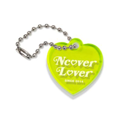 Heart lover-neon green(key ring)