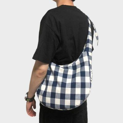 slouch bag [navy check]