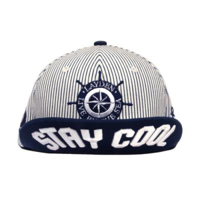 BY THE SEA SNAPBACK-NAVY STRIPE