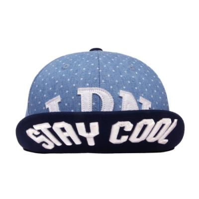 LDN PATCH SNAPBACK-BLUE POLKA DOT