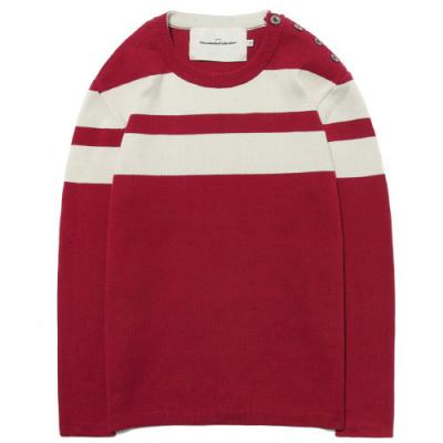 SAILOR KNIT CREW NECK [RED]