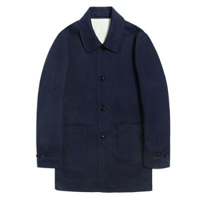 COTTON SINGLE COAT [NAVY]