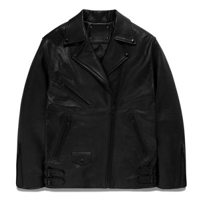 WOMENS OVERSIZE RIDER JACKET GS [BLACK](GSWL02)