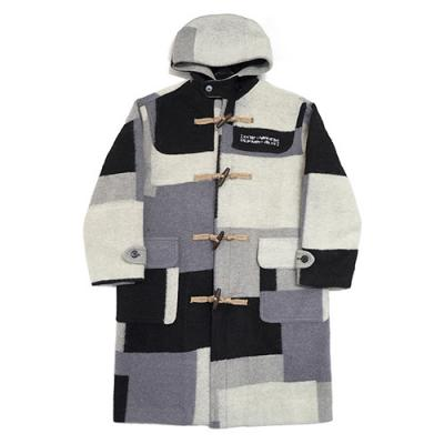 PATCH WORK DUFFLE COAT - ACHROMATIC COLOR