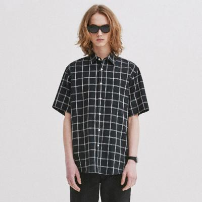HALF WINDOW CHECK SHIRTS GS [BLACK](GSVS40)