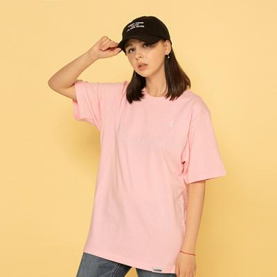 BASIC L LOGO S/S TEE-LIGHT PINK